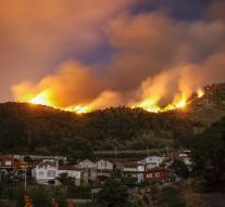 Approximately 130 forest fires in northern Spain