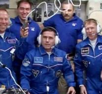 Astronauts arrive at space station