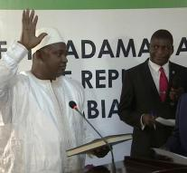 Barrow was sworn in as president Gambia
