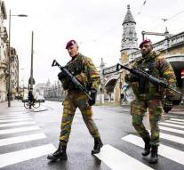 Belgium army continues to patrol the street