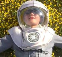 Boy so allergic to the sun that he wears a special suit every day