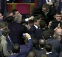 Brawl in parliament Ukraine