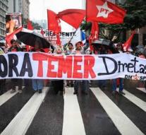Brazilian protesters demand resignation Temer