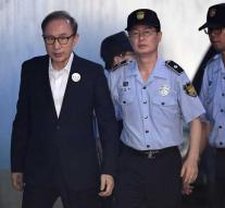 Celstraf former president South Korea for fraud