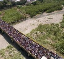 Chaos at border Venezuela