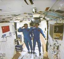 Chinese astronauts back on Earth after month
