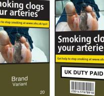 Cigarettes in UK only neutral packages