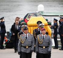 Coffin arrived with Kohl in Speyer
