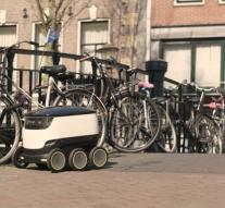 Domino's put in delivery delivery robot in Hamburg