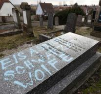 Eighty Jewish graves in Alsace were plastered