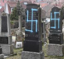 Eighty Jewish graves with swastikas daubed