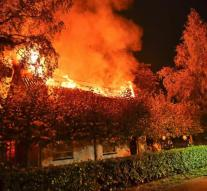 Fire by cannabis plantation in house refugees