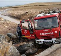Firefighter dead in flood after severe weather in Spain