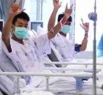 First images: Thai cave boys laugh at camera in hospital