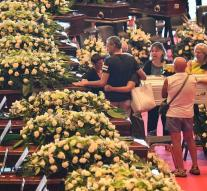 First victims accident Genoa commemorated