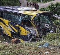 Fourteen killed in bus crash Malaysia