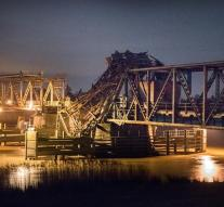 Freighter rams rail bridge