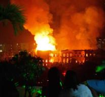 Great fire in National Museum Brazil