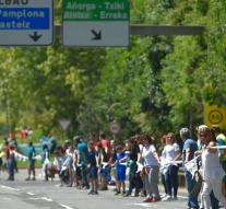 Human chain to enforce referendum