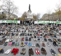 Hundreds of shoes on Place de la Republique