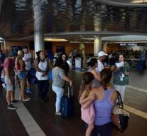 Hundreds of stranded Puerto Rico airport