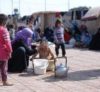 Iraqi refugees in Syrian camp