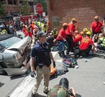 Kill and wounded at protest Charlottesville