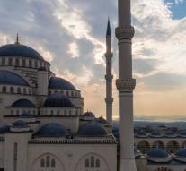 Largest Turkish mosque put into use