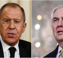 Lavrov and Tillerson spoke to each other about Syria