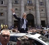 Macri was sworn in as president Argentina