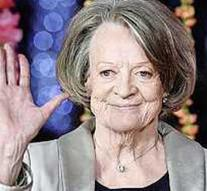 Maggie Smith as secretary Goebbels