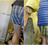 Man pulls pants on Air France flight