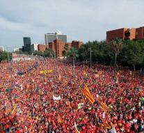 Mass demonstration separatists in Barcelona