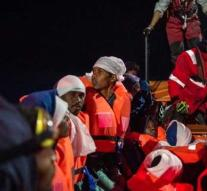 Migrants stopped for Libya's coast