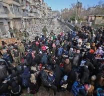Moscow announced mass exodus of civilians in Aleppo