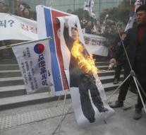 Photo Kim Jong-un on fire in protest against delegation Play