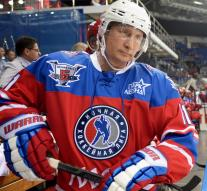 Putin plays ice hockey on 63rd birthday