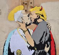 Pope kisses with 'Devil' Trump