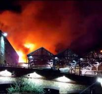 Popular London market hit by fire
