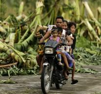 Power Philippines dropped by typhoon