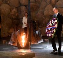 Prince William lays wreath at Holocaust Memorial