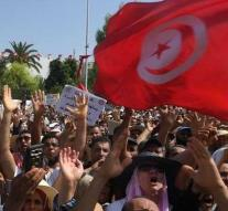 Protest against more women's rights in Tunisia
