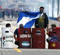 Protest during the inauguration of President Honduras