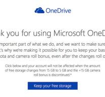 Reduction OneDrive Storage reversed