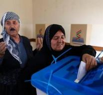Referendum Northern Iraqi Kurds began