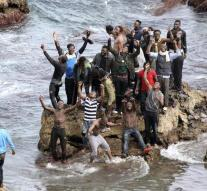 Refugees storms in Ceuta