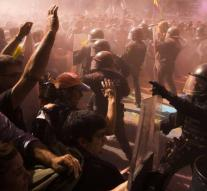 Riots in protests Catalan separatists