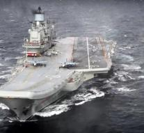 Russia has aircraft carrier away from Syria
