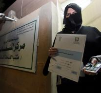 Saudi women are allowed to vote first