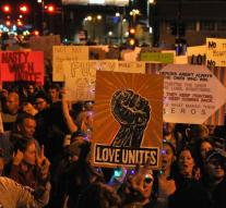 Second night is quiet protests in US